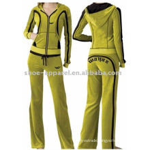 Women's fashion velour tracksuits