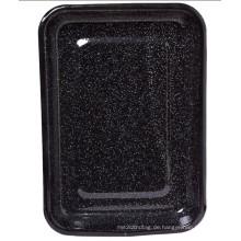 (LONGFEI) Moderne stilvolle Rechteckform Emaille Bratschale / Lebensmittelplatte