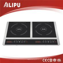 Fogão de indução elétrica do vidro de Schott Ceran do queimador 3600W do fogão 2 do dispositivo de cozinha 2014