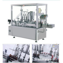 Máquina de llenado y tapado automático de botellas redondas