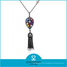 Hochwertige Mode Silber Schmuck Halskette mit Stein (N-0329)