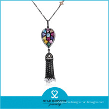 High Quality Fashion Silver Jewelry Necklace with Stone (N-0329)