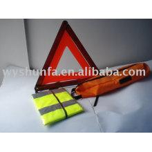 safety kit/warning triangle E-MARK,safety vest CE