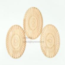 Tapisserie d'ameublement de style européen en bois sculpté ovale