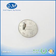Mag 7 * 2mm N35 Grau Níquel Cobre Níquel Revestido Magnetização Axial