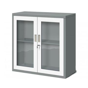 Glass Swing Door Metal Cupboard