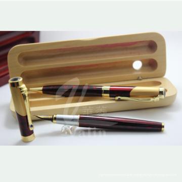 Caixa de presente para canetas em material de madeira