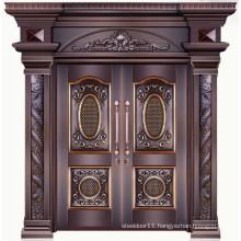 Copper outdoor doors for house