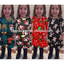 Vestido de fiesta de la muchacha de la Navidad 2017 Diseños de los vestidos de los niños Vestido de la muchacha modelo nuevo