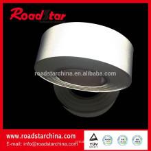Prata cinza refletivo PVC espuma couro para sapatos