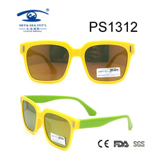 Yellow Frame Square Colorful Kid Plastic Sunglasses (PS1312)
