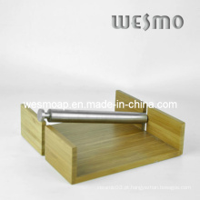 Utensílios de cozinha carbonizados bambu guardanapo titular