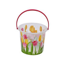 26.5 * 19.5 * 23.5 Fácil de llevar precio barato de plástico 15L impresión cubo con mango