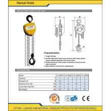 1 Ton to 5 Ton Chain Lift Hoist