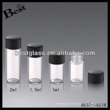 Bouteille de couverture de bakélite de 1.5ml; 1,5 ml de matière bakélite noire