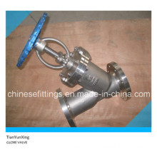 Manual API Stainless Steel Flange Y Type Globe Valve