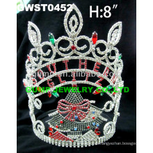 Tiara y corona del árbol de navidad de encargo