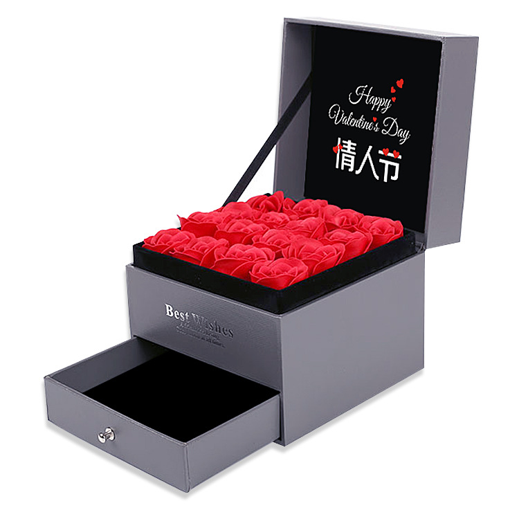 Luxury Sliding Gift Box With Lid For Flowers