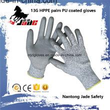 13G Gary Revestimento revestido de PVC Revestimento de luva de trabalho Nível Nível 3 e 5