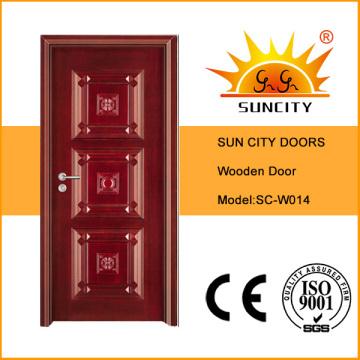 Дом антикварной конструкции сложной резьбой деревянную дверь (СК-W014)