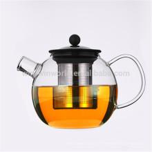 Vente chaude promotionnel cadeau de Noël Pyrex théière en verre clair thé ensemble
