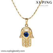 32797 Xuping cobre joyería 18k oro hamsa diseño colgante encanto