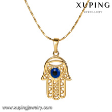 32797 Xuping copper jewellery 18k gold hamsa design charm pendant