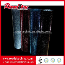 Rolled metallic reflective glitter film
