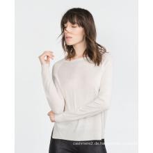 Frauen kleidung fabrik 100% kaschmir stricken tops dünne frauen tops pullover einfarbig O hals