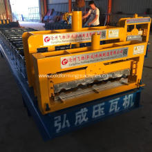 Automatic glazed tile steel roof tile roll formed machine
