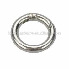 Hot Style Metal Spring Round Ring Nickel