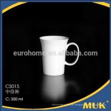 Hotelware keramik verkaufen restaurant elegante reine weiße kaffeetassen
