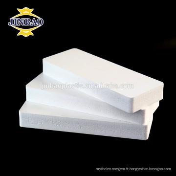 JINBAO expansé blanc étanche pvc mousse feuilles 8mm