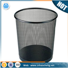Factory price stainless steel round storage basket/dustbin/wastebasket