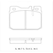GDB1103 0014202420 Для тормозных колодок VW BENZ BMW