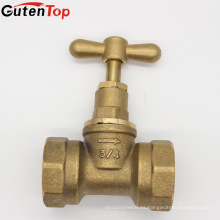 Válvula de alto voltaje de cobre amarillo de alta calidad de la parada 200Psi de GUTENTOP para el uso del aceite de agua