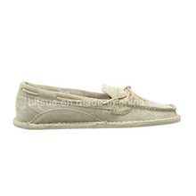 Vogue White Colour Style Leather Boat Shoes for Factory Price