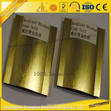 Produits en aluminium balayés brillants internationaux de vente chaude avec des couleurs diverses adaptées aux besoins du client