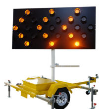 LED Arrow Board, Mounted on Trailer, Automatic Dimming Photocell