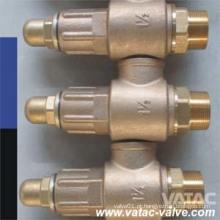 Válvula de segurança de bronze com tampa fechada