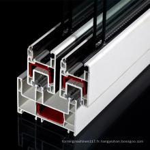 Profils coulissants en PVC pour Windows