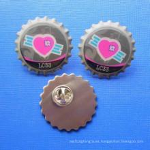 Por encargo esmalte del Pin estampado insignias del logotipo (GZHY-YS-018)