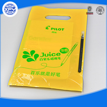 Customized logo die cut shopping plastic bag