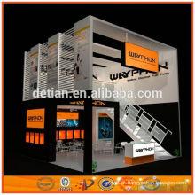 Xangai 6 m * 12 m dois nível stand de exposição e estande contratante