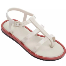2021 Wholesale Clear print women flower jelly sandals Summer outdoor fruit beach flat soft casual shoes