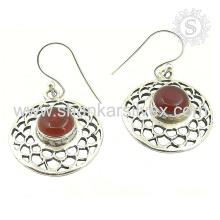 New Scenic Carnelian Gemstone Earring 925 Sterling Silver Atacado Jóias Jaipur Handmade Jóias De Prata
