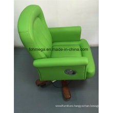 Modern Swivel Reception Hotel Chair in Green (FOH-BOCG)
