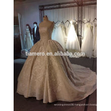 Th-5795C Empire victorian elie saab dress quality real picture lofty beading luxury wedding dresses