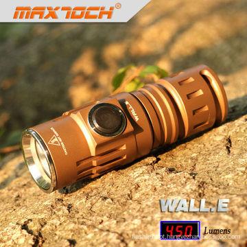 Maxtoch parede. E 450 Lumens 16340 Li-ion bateria alumínio EDC Cree XML U2 Mini LED Torch