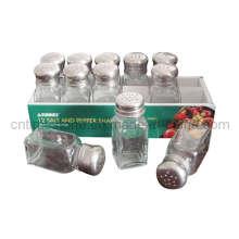 Conjuntos de condimentos de vidrio 12PC (TM922)